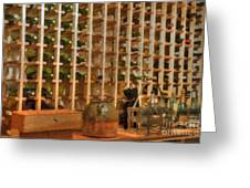 Wine Rack Vineyard Fermentation   Greeting Card