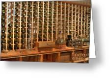 Wine Rack Vineyard Fermentation Greeting Card