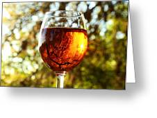 Wine Reflections Square Greeting Card