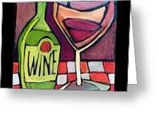 Wine Squared Greeting Card