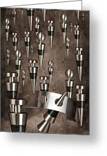 Wine Stopper Storm Greeting Card