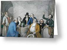 Wine Tasters In A Cellar Greeting Card