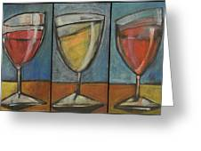 Wine Trio Option 2 Greeting Card by Tim Nyberg