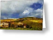Wine Vineyard Greeting Card