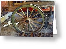 Wine Wagon Wheel Greeting Card
