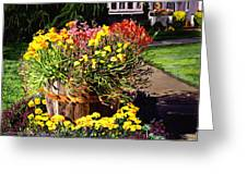 Winebarrel Garden Greeting Card