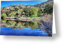 Winery Pond Reflections Greeting Card