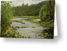 Winery River Greeting Card