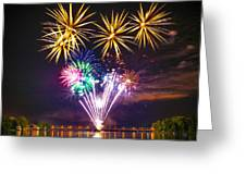 Wing Dam Fireworks  Greeting Card