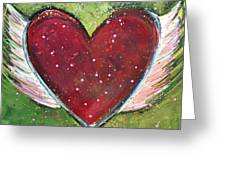 Winged Heart Number 1 Greeting Card