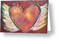 Winged Heart Number 2 Greeting Card