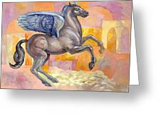 Winged Horse Greeting Card