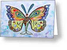 Winged Metamorphosis Greeting Card by Lucy Arnold