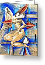 Winged Space Greeting Card
