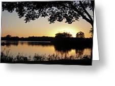 Wingfoot Sunset Greeting Card