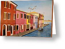 Wingin It In Venice Greeting Card