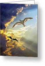 Wings Against The Storm Greeting Card