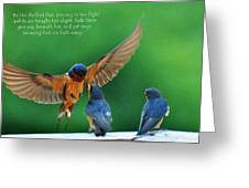 Wings Greeting Card by Diane E Berry