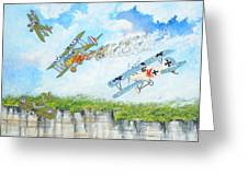 Wings Over Dover Greeting Card