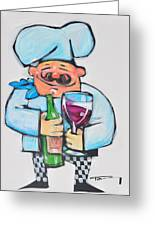 Wining Chef Greeting Card