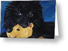 Winnie And Pooh Greeting Card