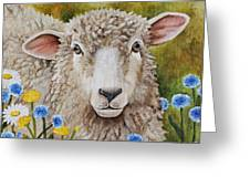 Winnie In The Wild Flowers Greeting Card by Laura Carey