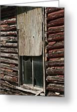 Winslow Cabin Window Greeting Card
