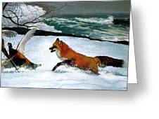 Winslow Homer's, 1893 ' The Fox Hunt ', Revisited 2016 Greeting Card