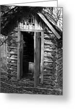 Winslow Log Outhouse Greeting Card