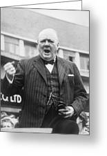 Winston Churchill Campaigning - 1945 Greeting Card