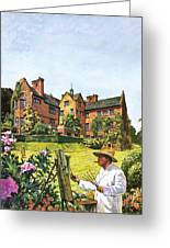 Winston Churchill Painting At Chartwell Greeting Card