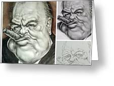 Winston Churchill's Caricature Greeting Card