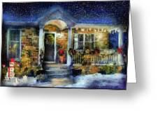 Winter - Christmas - Dressed Up For The Holidays  Greeting Card