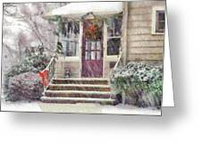 Winter - Christmas - Silent Day  Greeting Card