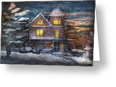 Winter - Clinton Nj - A Victorian Christmas  Greeting Card
