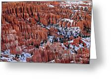 Winter Afternoon At Inspiration Point Bryce Canyon National Park  Utah Greeting Card