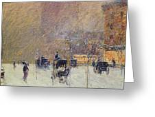 Winter Afternoon In New York Greeting Card