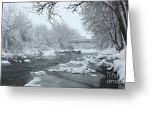 Winter Along Clear Creek Greeting Card
