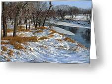 Winter Along The Little Sioux Greeting Card