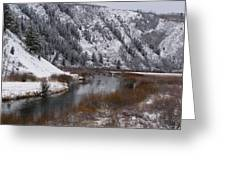 Winter Along The Salt Greeting Card