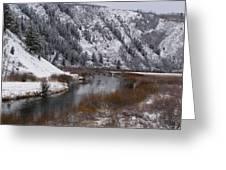 Winter Along The Salt Greeting Card