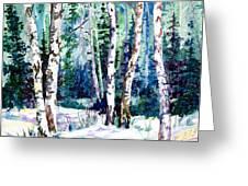 Winter Aspen Greeting Card