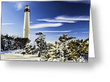 Winter At Cape May Light Greeting Card