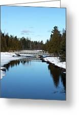 Winter At Hickey Creek Greeting Card