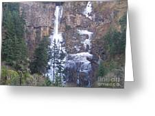 Winter At Multnomah Falls Greeting Card
