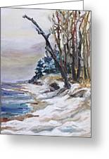 Winter At The Baltic Sea  Greeting Card