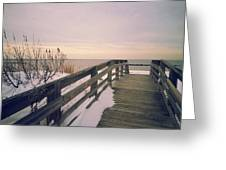 Winter At The Beach Greeting Card