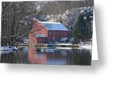 Winter At The Clinton Mill Greeting Card