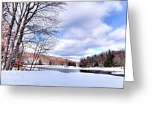 Winter At The Dam Greeting Card