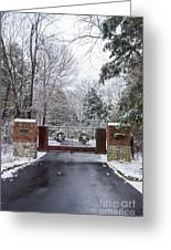 Winter At The Gate Greeting Card